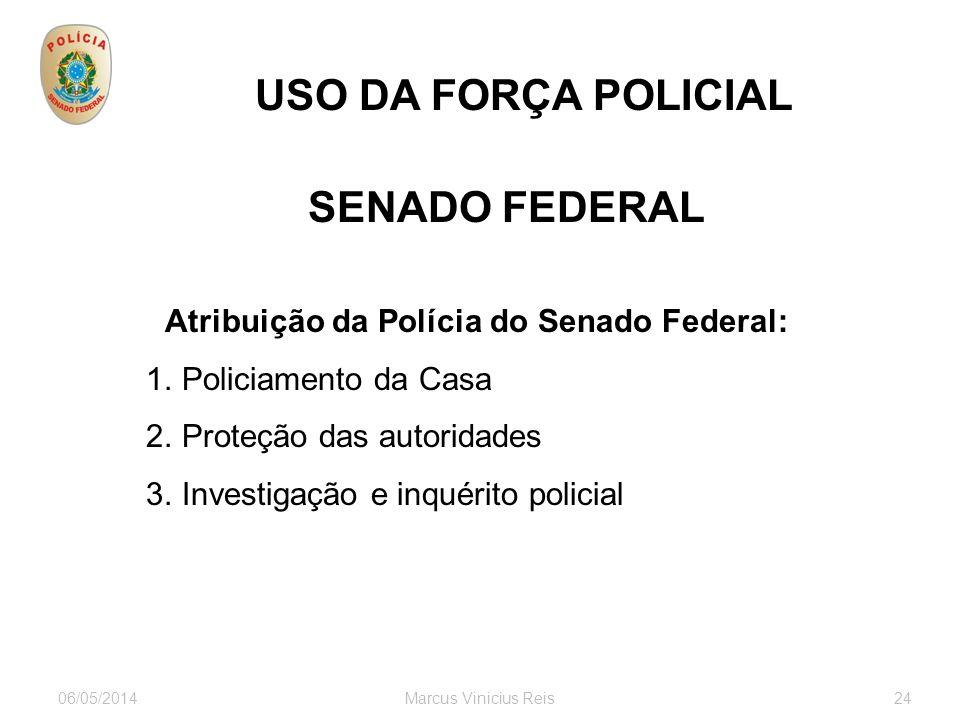 Atribuição da Polícia do Senado Federal: