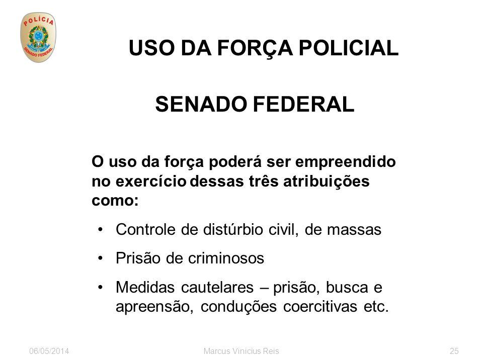 USO DA FORÇA POLICIAL SENADO FEDERAL