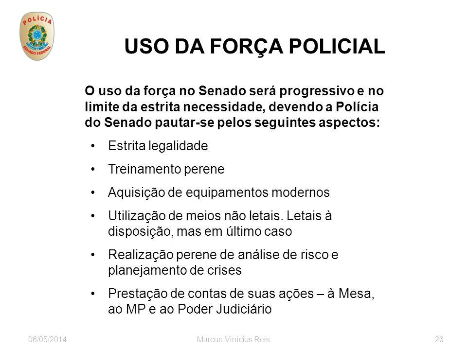 USO DA FORÇA POLICIAL