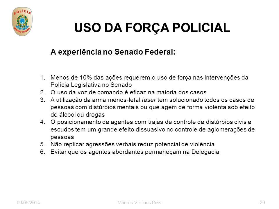 USO DA FORÇA POLICIAL A experiência no Senado Federal: Partidos