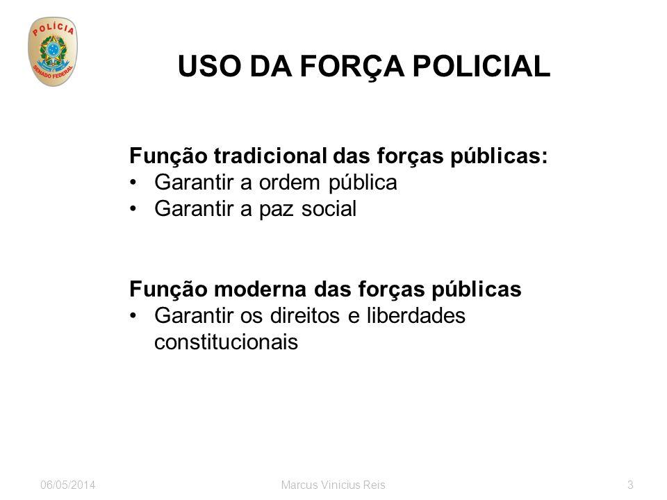 USO DA FORÇA POLICIAL Função tradicional das forças públicas: