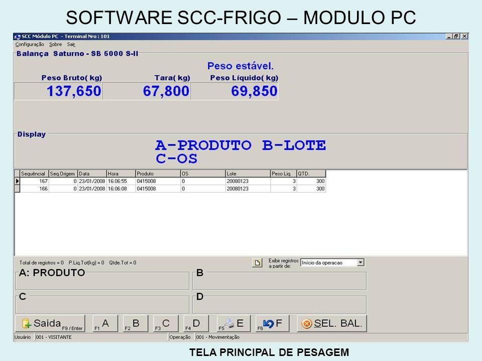SOFTWARE SCC-FRIGO – MODULO PC