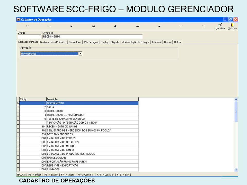 SOFTWARE SCC-FRIGO – MODULO GERENCIADOR