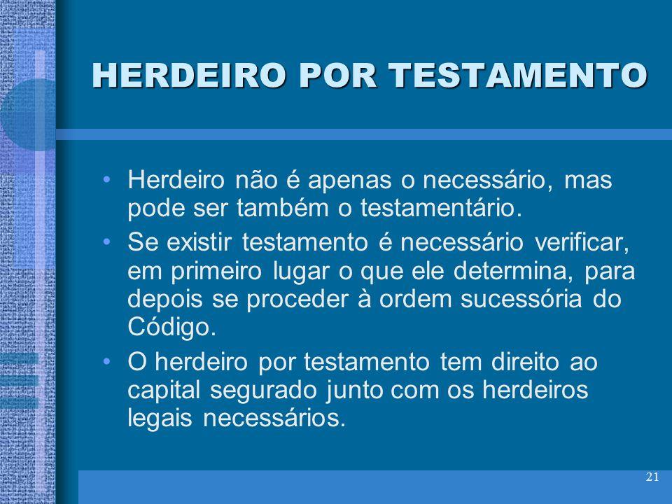 HERDEIRO POR TESTAMENTO