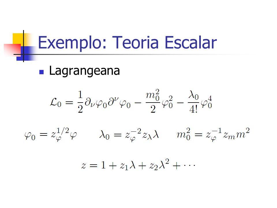 Exemplo: Teoria Escalar