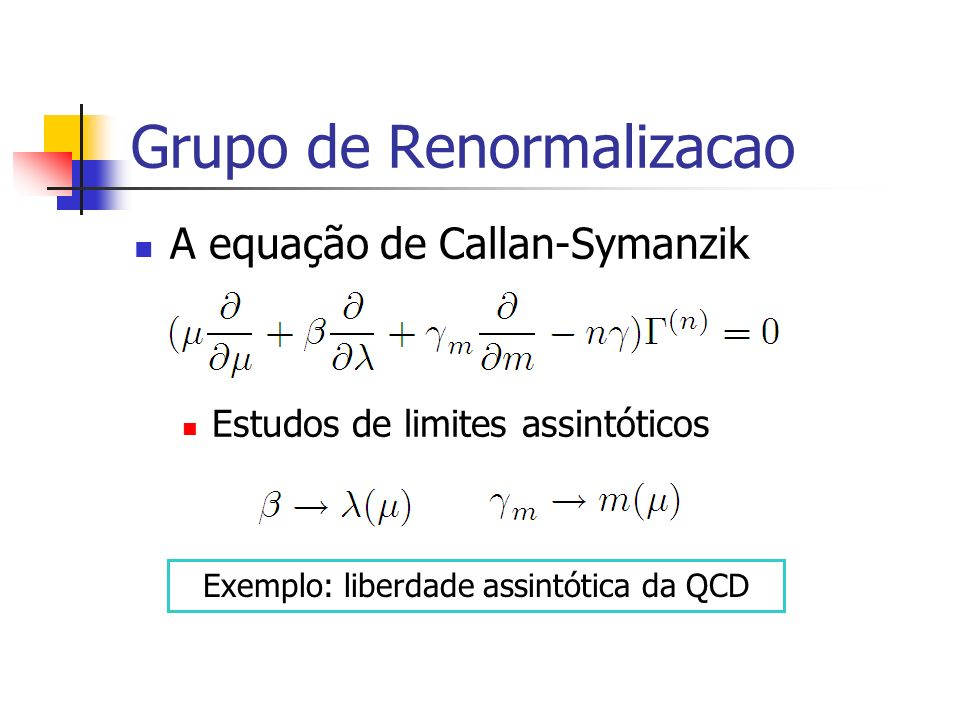 Grupo de Renormalizacao