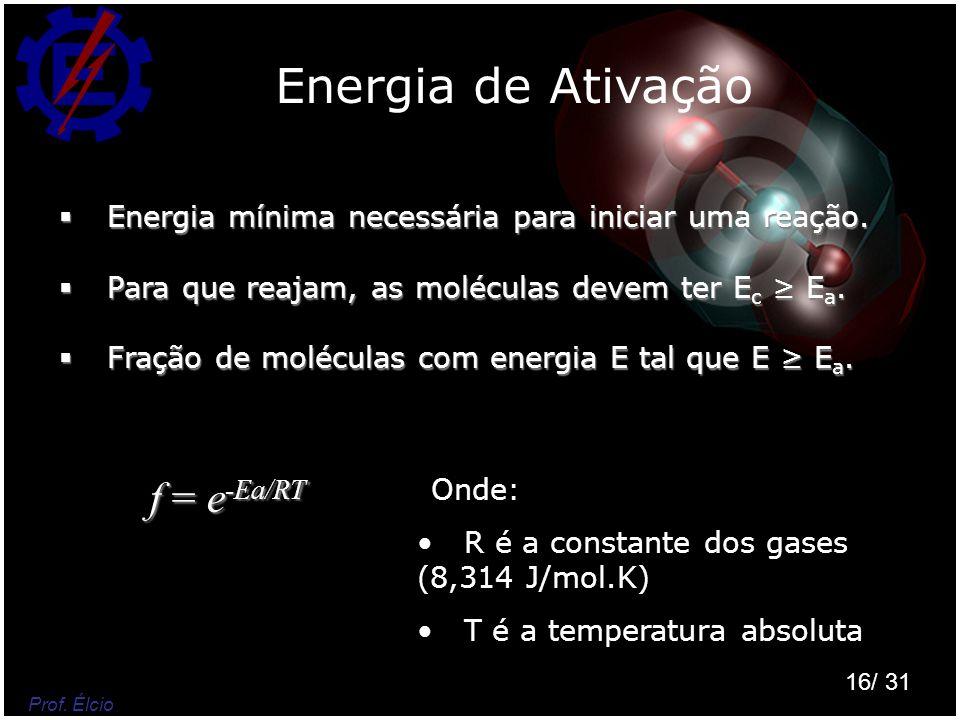 Energia de Ativação f = e-Ea/RT