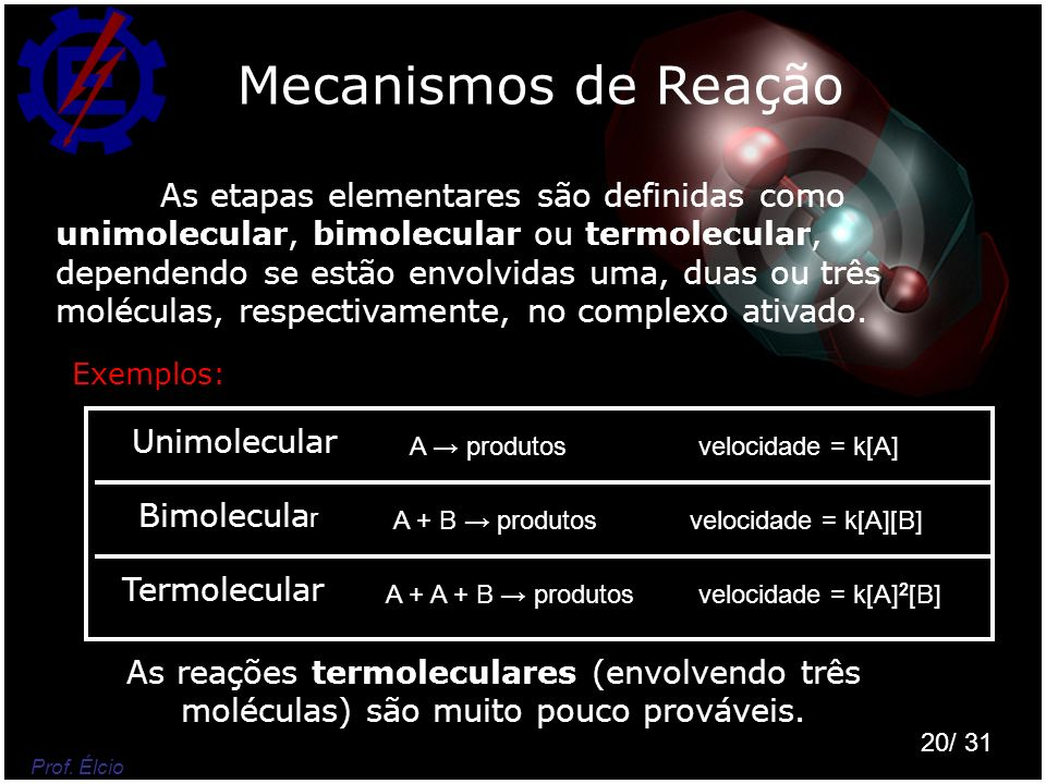 Mecanismos de Reação