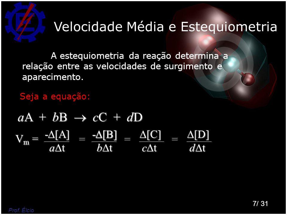 Velocidade Média e Estequiometria