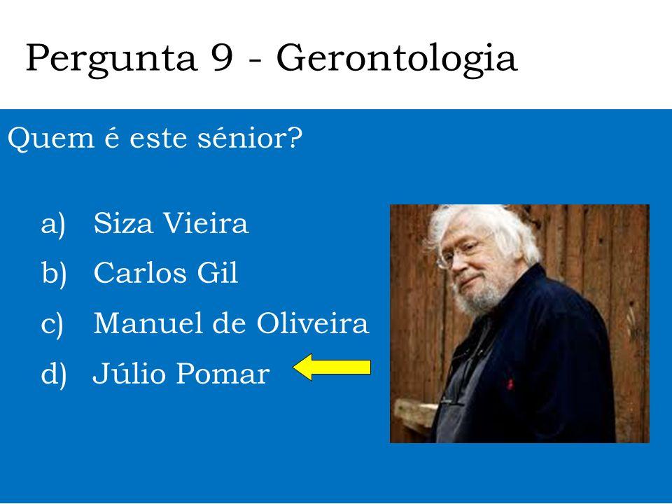 Pergunta 9 - Gerontologia