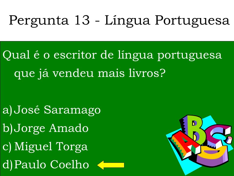 Pergunta 13 - Língua Portuguesa