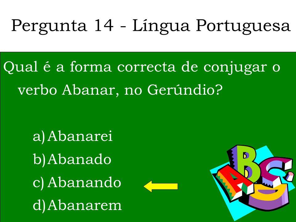 Pergunta 14 - Língua Portuguesa