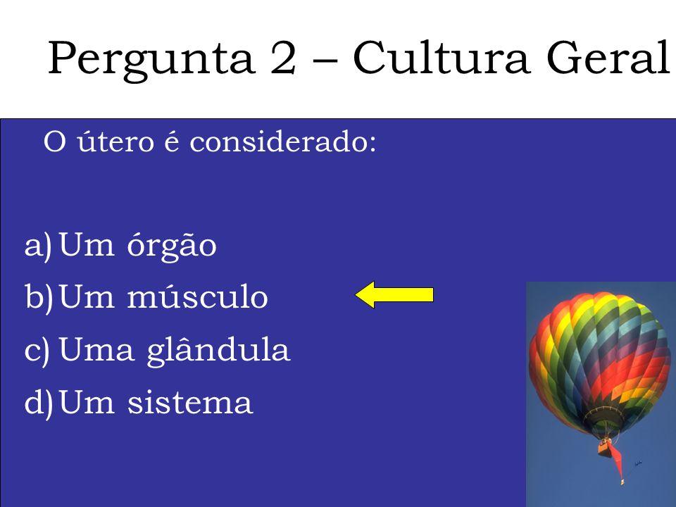 Pergunta 2 – Cultura Geral