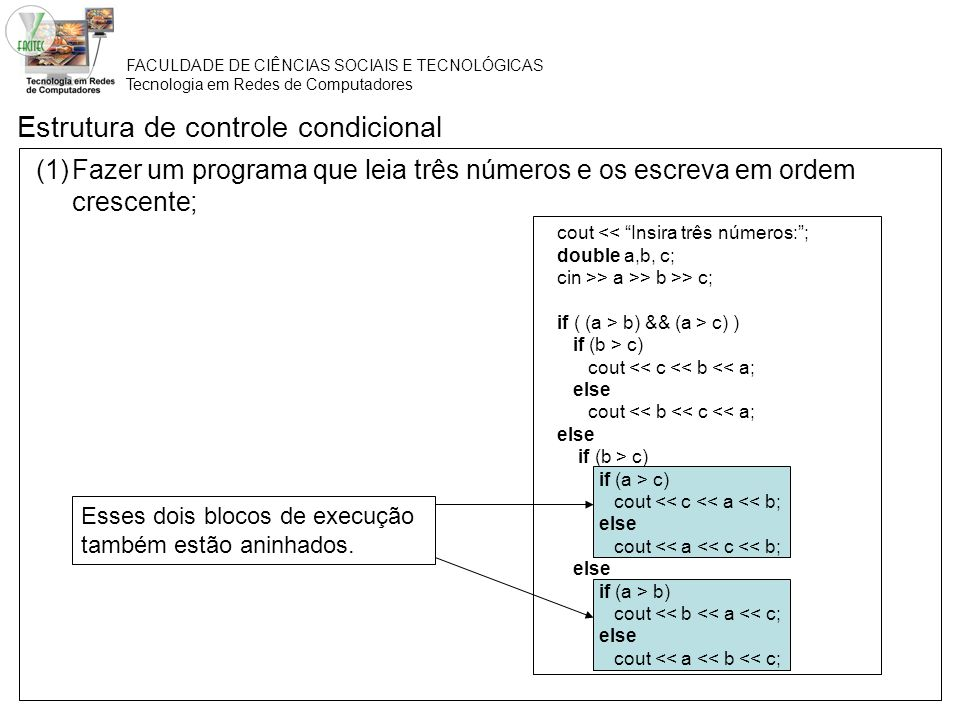 Estrutura de controle condicional