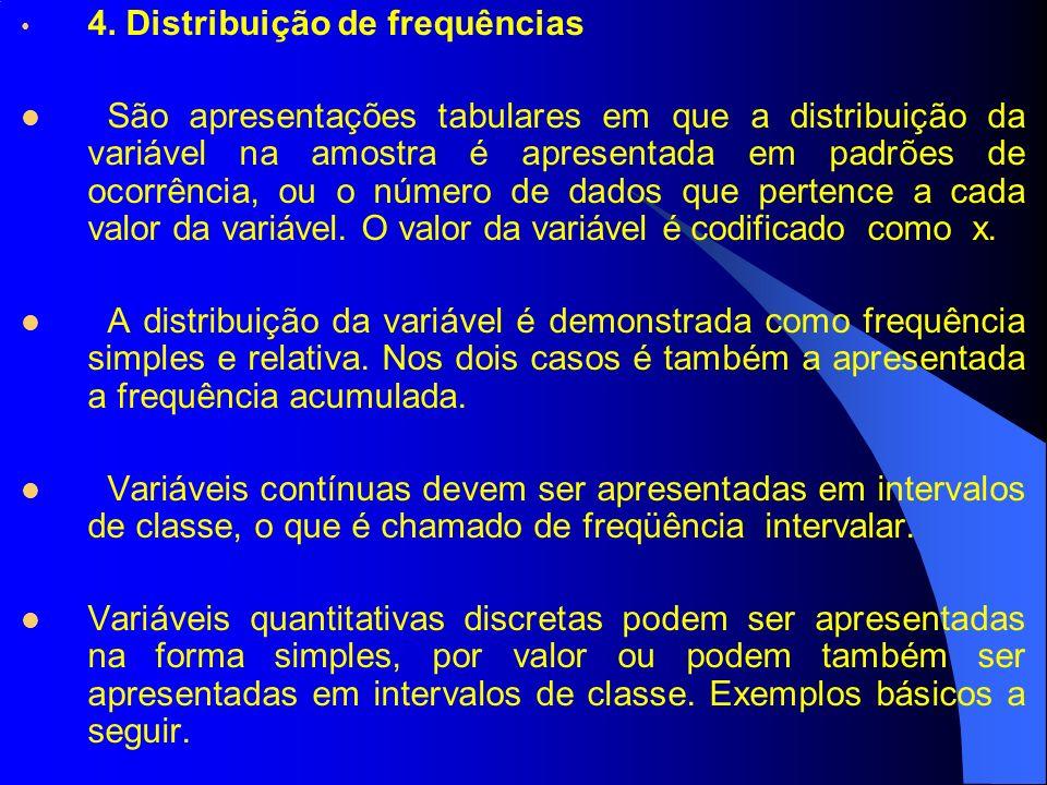 4. Distribuição de frequências