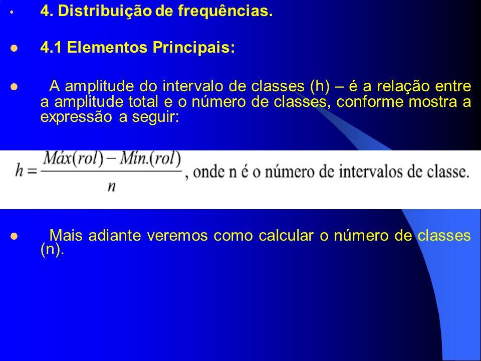4. Distribuição de frequências.
