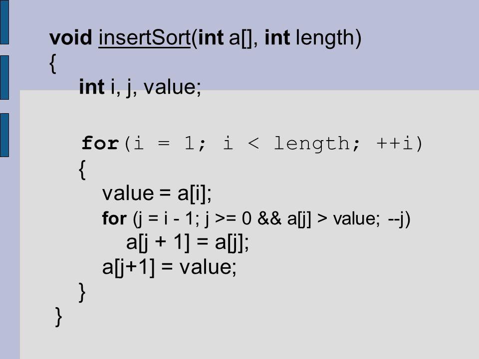 for(i = 1; i < length; ++i)