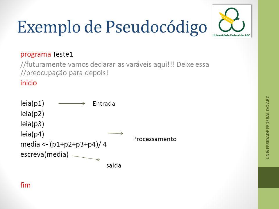 Exemplo de Pseudocódigo