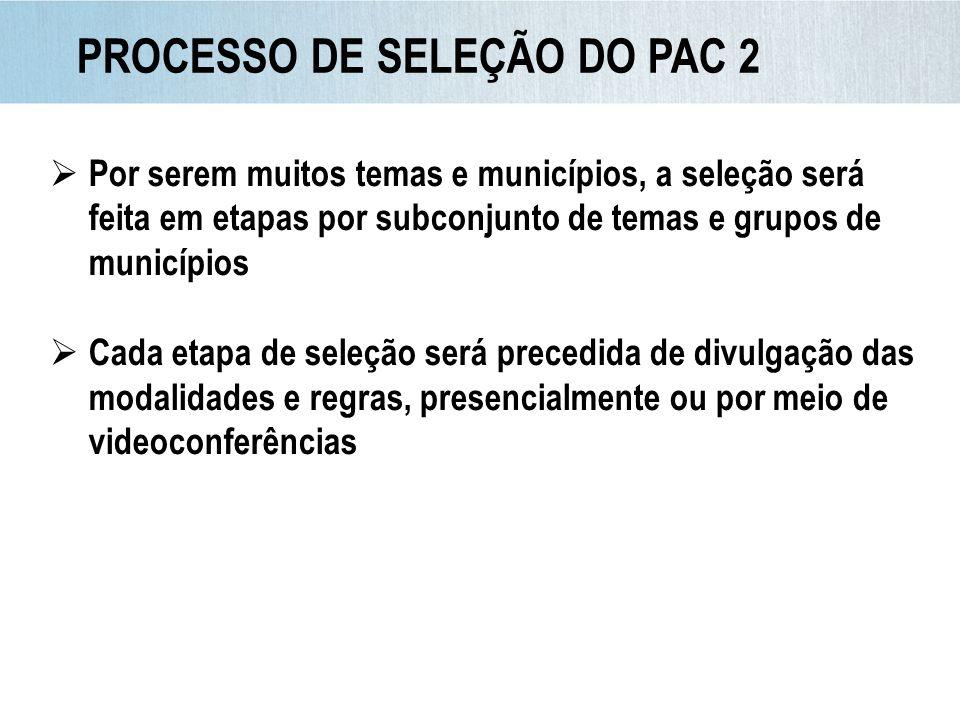 PROCESSO DE SELEÇÃO DO PAC 2