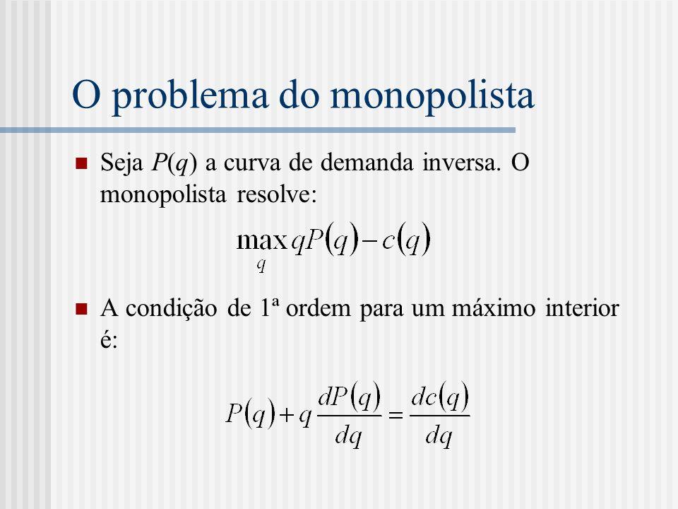 O problema do monopolista