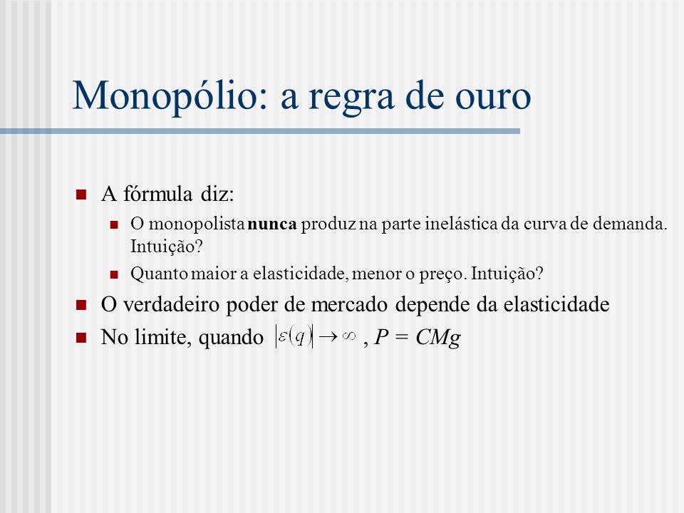 Monopólio: a regra de ouro