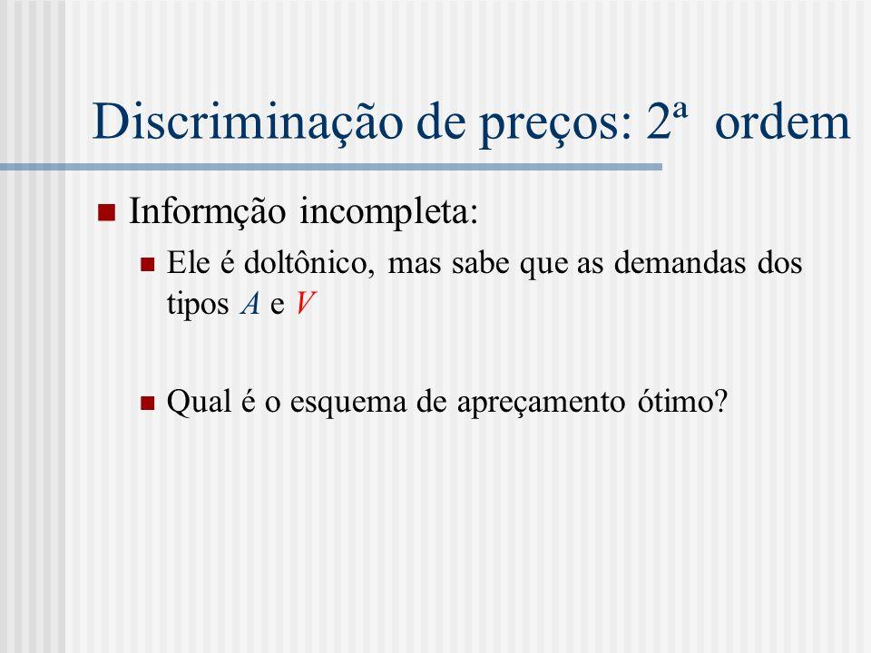Discriminação de preços: 2ª ordem