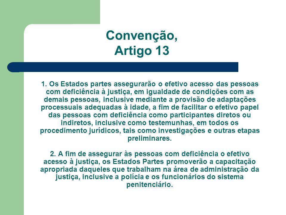 Convenção, Artigo 13.