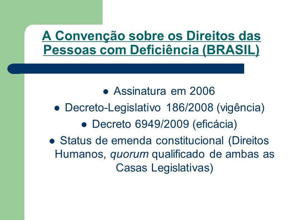 A Convenção sobre os Direitos das Pessoas com Deficiência (BRASIL)