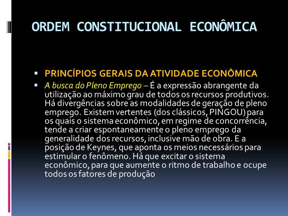 ORDEM CONSTITUCIONAL ECONÔMICA