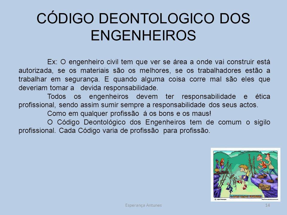 CÓDIGO DEONTOLOGICO DOS ENGENHEIROS