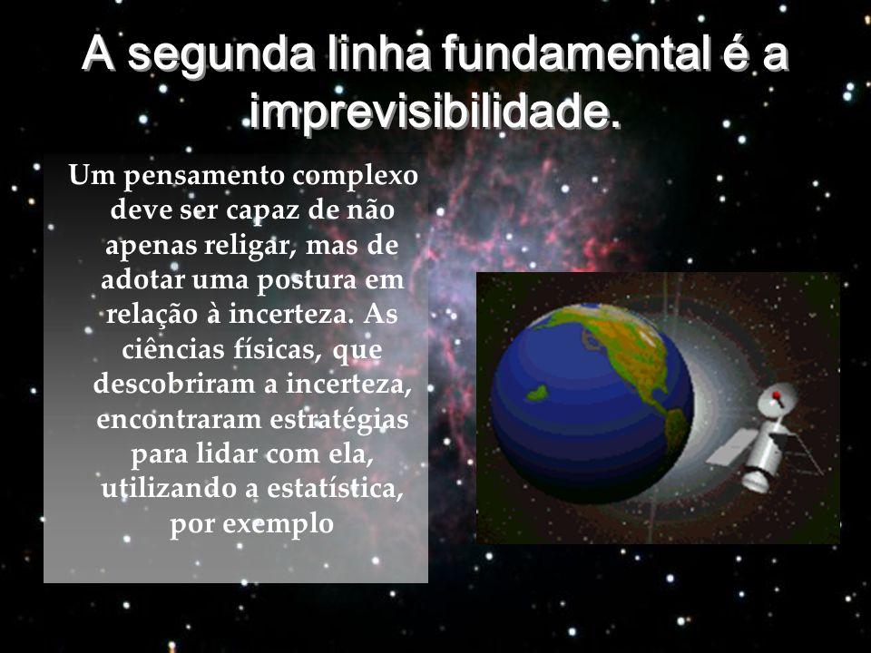 A segunda linha fundamental é a imprevisibilidade.