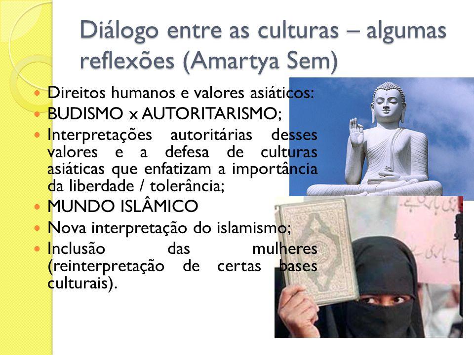 Diálogo entre as culturas – algumas reflexões (Amartya Sem)