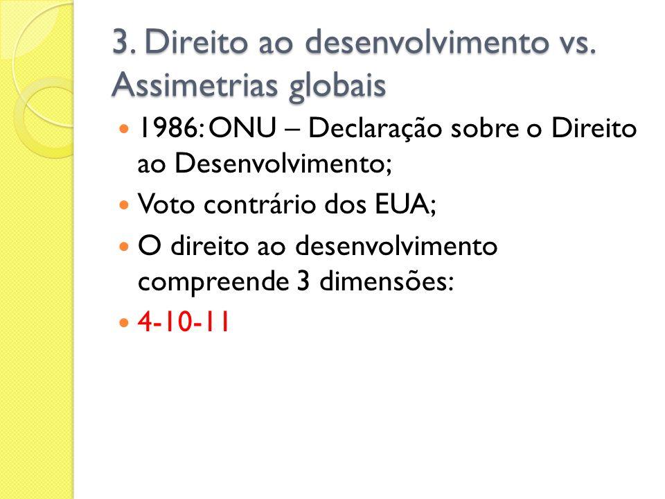 3. Direito ao desenvolvimento vs. Assimetrias globais