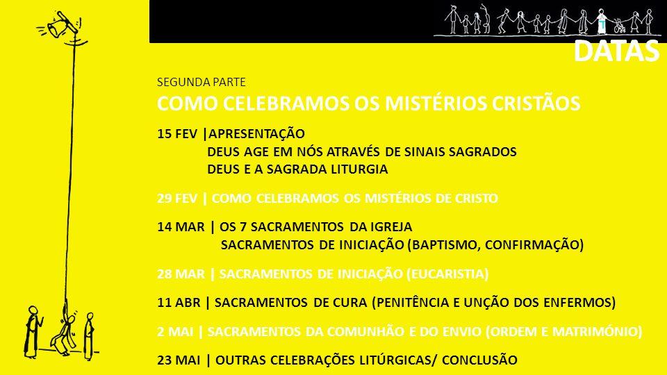 DATAS DATAS COMO CELEBRAMOS OS MISTÉRIOS CRISTÃOS 15 FEV |APRESENTAÇÃO