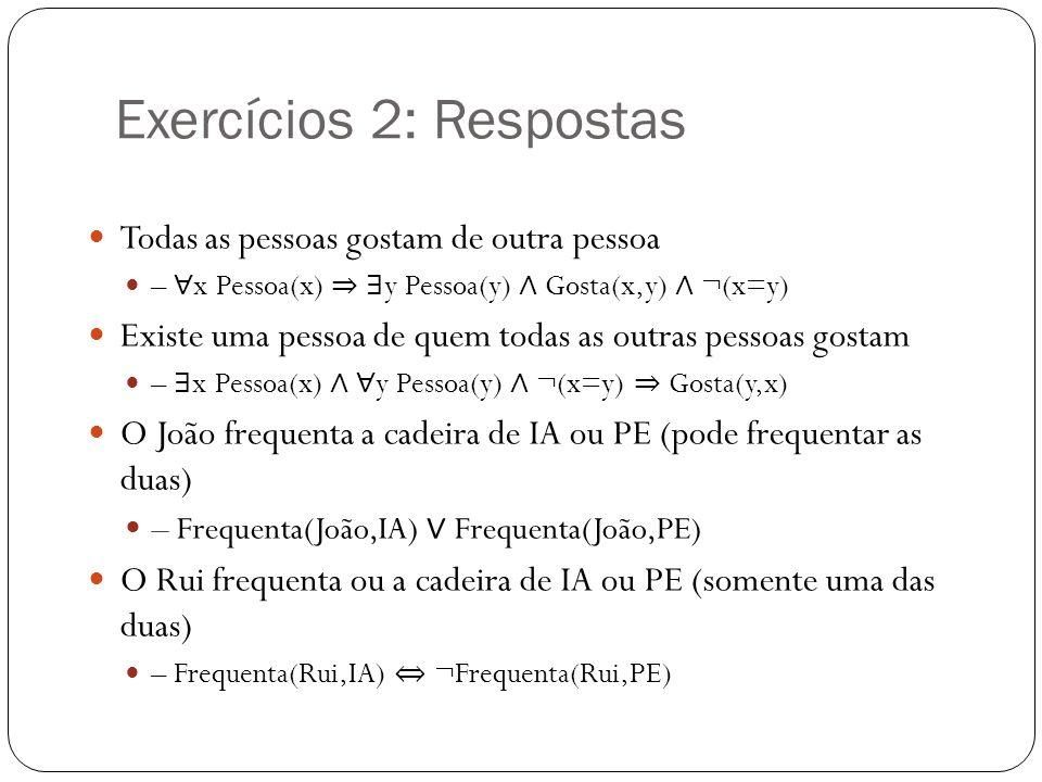 Exercícios 2: Respostas