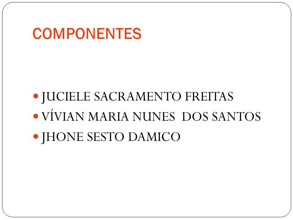 COMPONENTES JUCIELE SACRAMENTO FREITAS VÍVIAN MARIA NUNES DOS SANTOS
