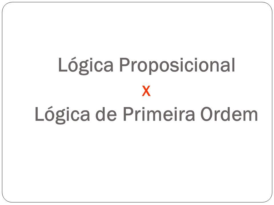 Lógica Proposicional x Lógica de Primeira Ordem