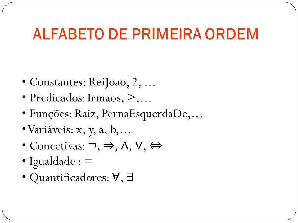 ALFABETO DE PRIMEIRA ORDEM