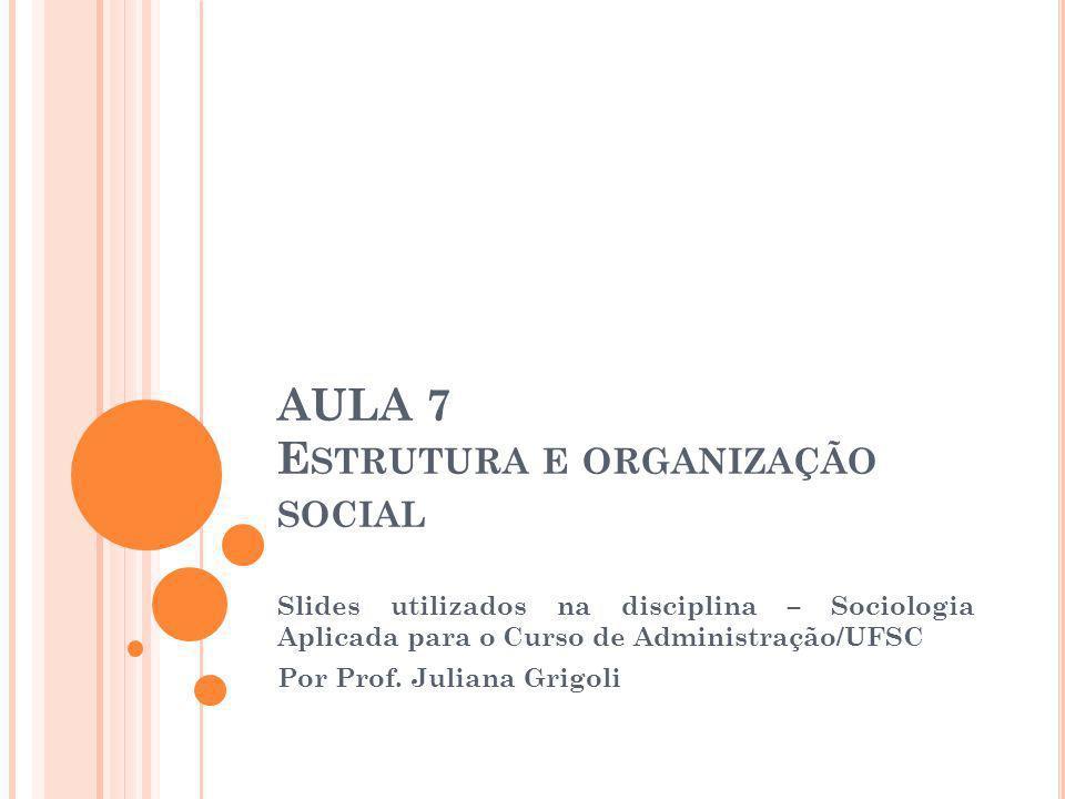 Estrutura e organização social