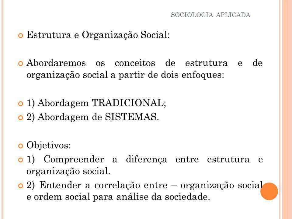 Estrutura e Organização Social: