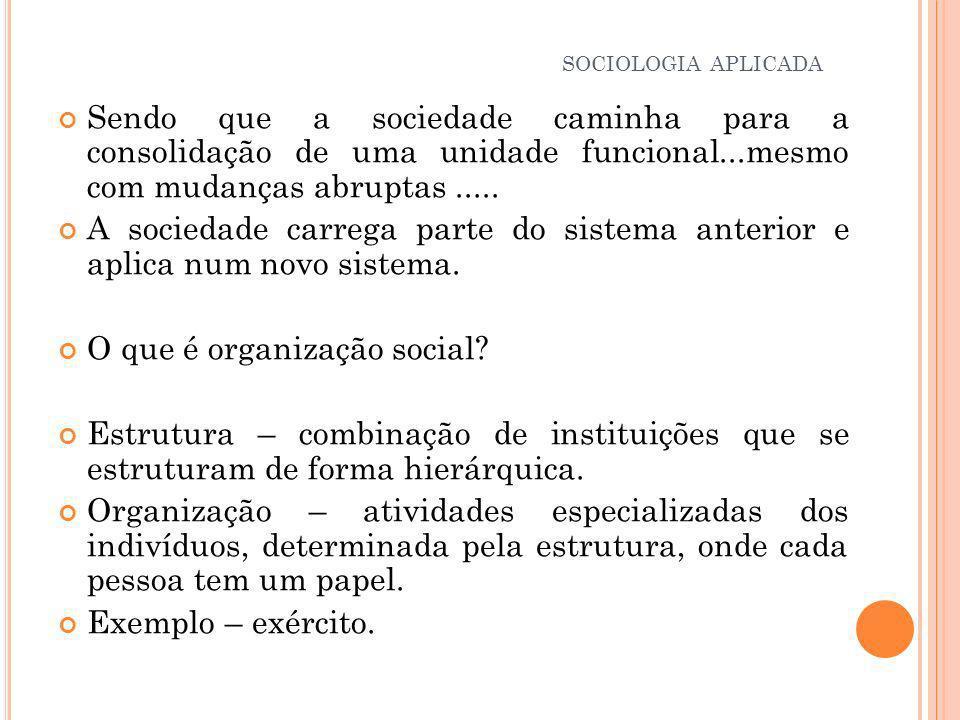 O que é organização social