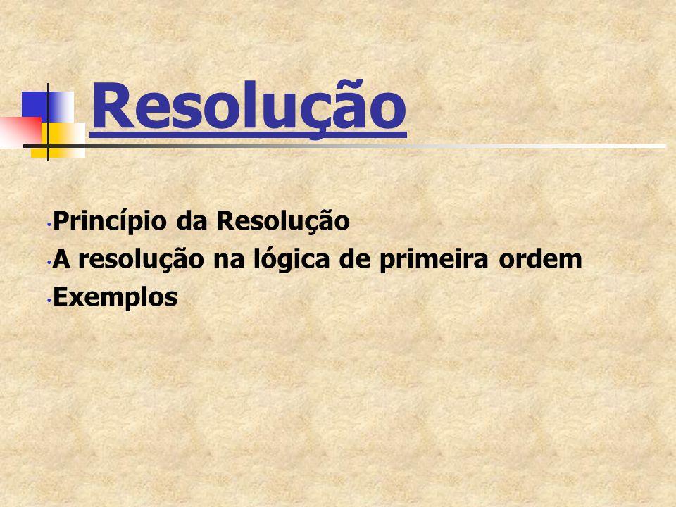 Resolução Princípio da Resolução