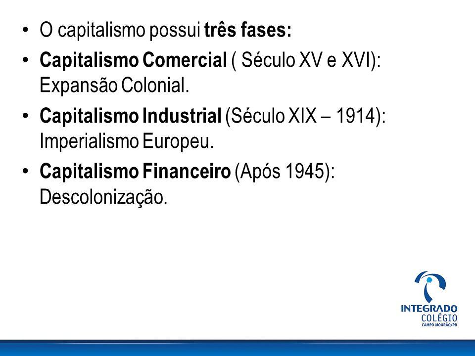 O capitalismo possui três fases: