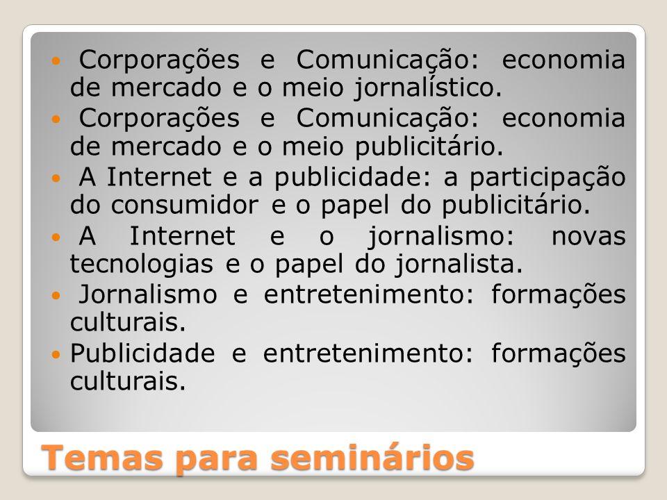 Corporações e Comunicação: economia de mercado e o meio jornalístico.