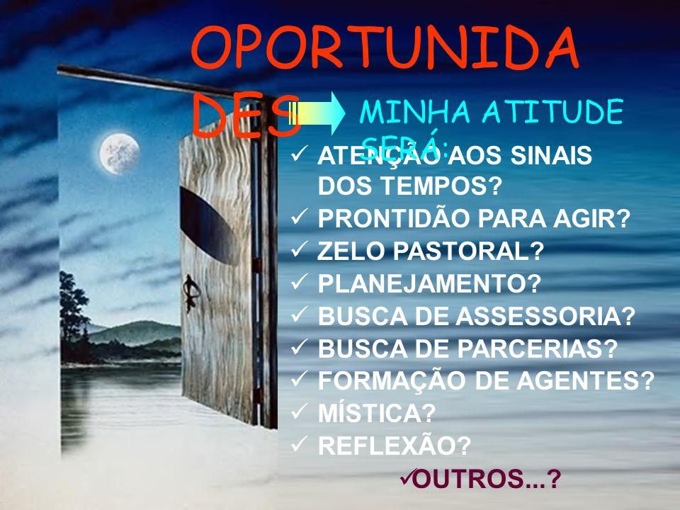 OPORTUNIDADES MINHA ATITUDE SERÁ: OUTROS...