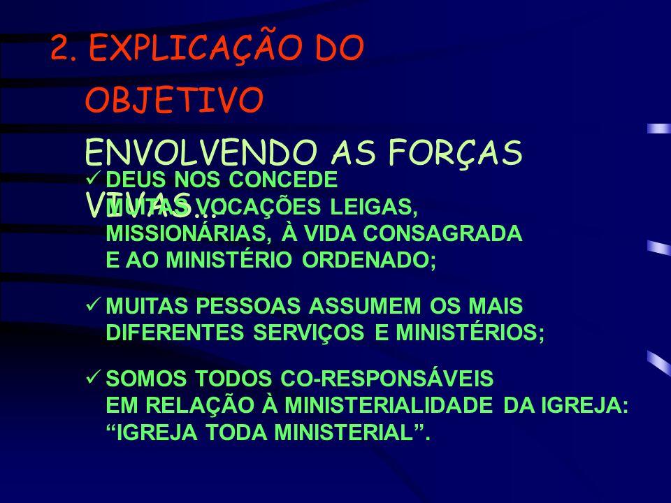 2. EXPLICAÇÃO DO OBJETIVO ENVOLVENDO AS FORÇAS VIVAS...: