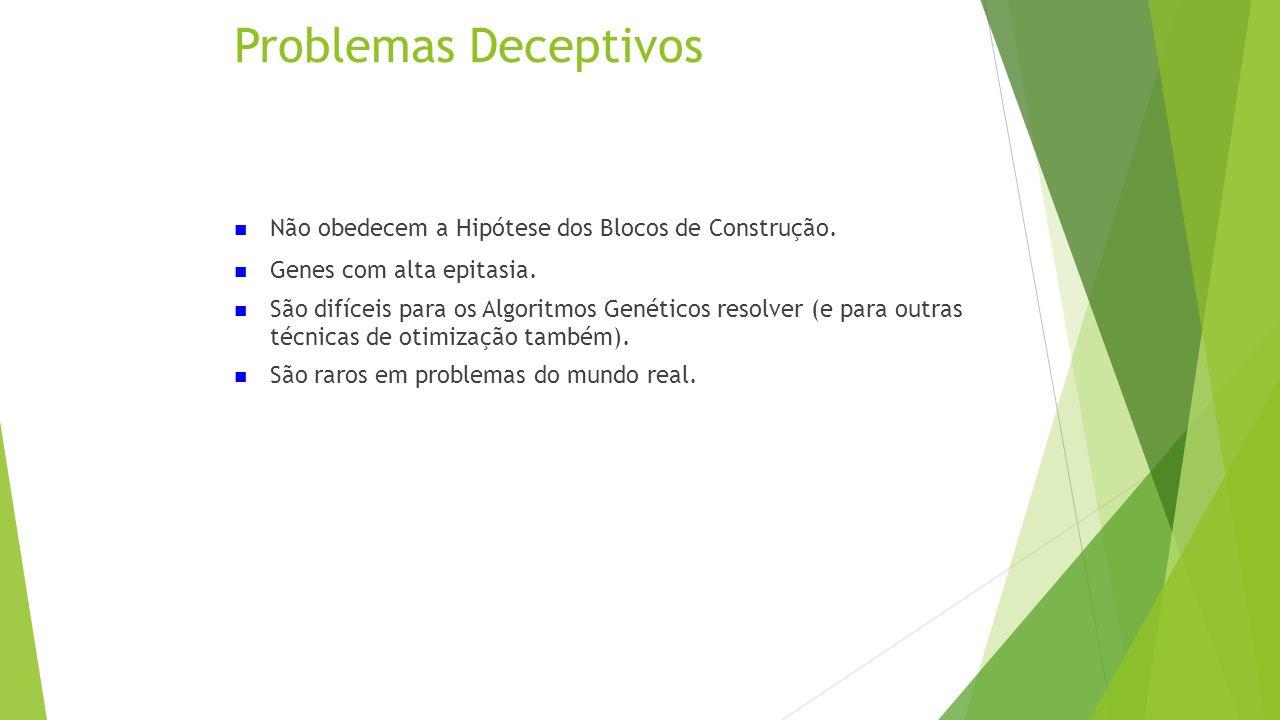 Problemas Deceptivos Não obedecem a Hipótese dos Blocos de Construção.