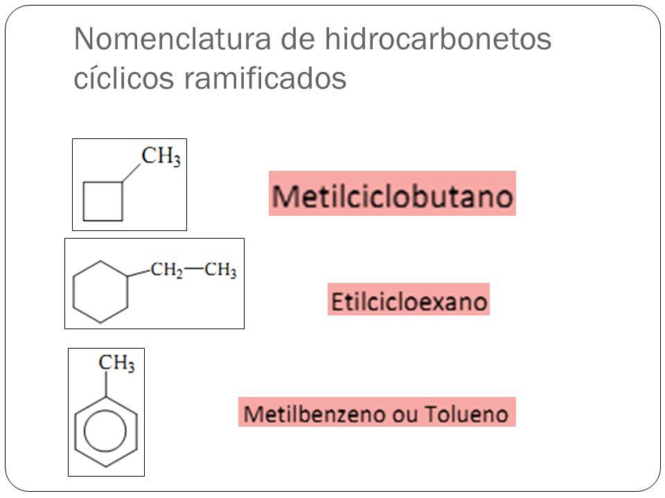 Nomenclatura de hidrocarbonetos cíclicos ramificados