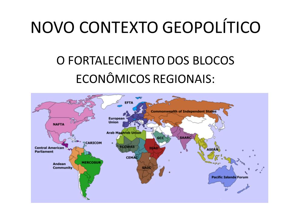 NOVO CONTEXTO GEOPOLÍTICO