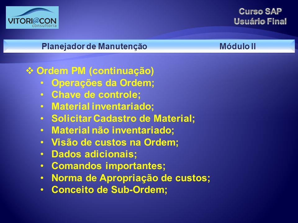 Planejador de Manutenção Módulo II
